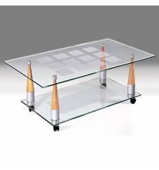 Стол Полигон Квадро-4н журнальный из стекла