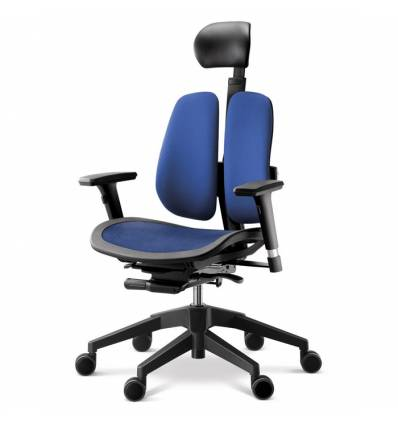 Кресло DUOREST Alpha A60H для руководителя, ортопедическое, цвет синий