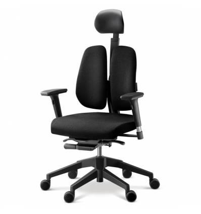Кресло DUOREST Alpha A30H для руководителя, ортопедическое, цвет черный