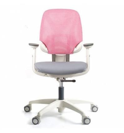 Кресло DUOREST DuoFlex Junior Combi детское, ортопедическое, цвет розовый/серый