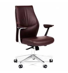 Кресло CHAIRMAN Vista M для руководителя, кожа коричневая