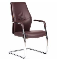 Кресло CHAIRMAN Vista V для посетителя, экокожа коричневая