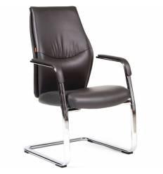 Кресло CHAIRMAN Vista V для посетителя, экокожа темно-серая