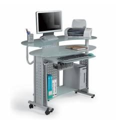 Стол Smartbuy SB-T400M компьютерный, стеклянный, металлик