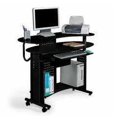 Стол Smartbuy SB-T400B компьютерный, стеклянный, черный