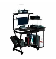 Стол Smartbuy SB-T240B компьютерный, стеклянный, черный