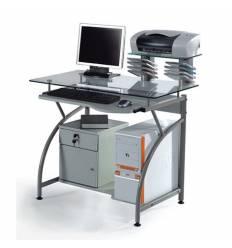 Стол Smartbuy SB-T1025M компьютерный, стеклянный, металлик