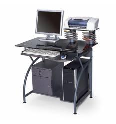 Стол Smartbuy SB-T1025B компьютерный, стеклянный, черный