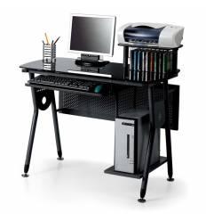 Стол Smartbuy SB-T1073B компьютерный, стеклянный, черный