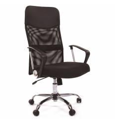 Кресло CHAIRMAN 610 для руководителя, сетка/ткань, цвет черный