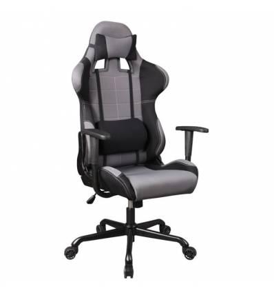 Кресло Бюрократ 771/GREY+BL для руководителя, ткань черно-серая