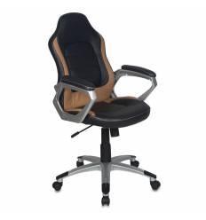 Кресло CH-825S/BLACK+BG для руководителя Бюрократ, черный/бежевый