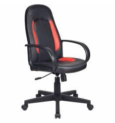 Кресло Бюрократ CH-826/B+R для руководителя, цвет черный/красный