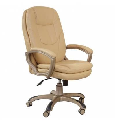 Кресло Бюрократ CH-868YAXSN/BEIGE для руководителя, цвет бежевый. Пластик цвет золото.