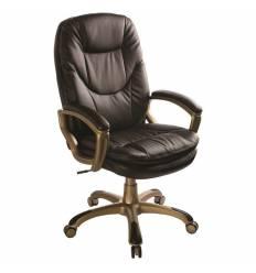 Кресло Бюрократ CH-868YAXSN/COFFEE для руководителя, цвет темно-коричневый. Пластик цвет золото.