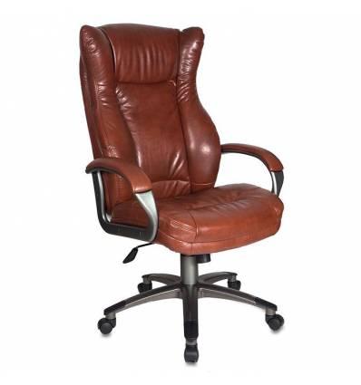 Кресло Бюрократ CH-879DG/BROWN для руководителя, цвет коричневый