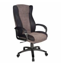 Кресло Бюрократ CH-879DG/F-C для руководителя, цвет коричневый.
