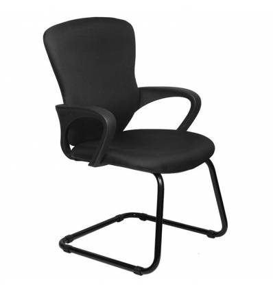 Кресло Бюрократ CH-818-LOW-V/15-21 для посетителя, цвет черный