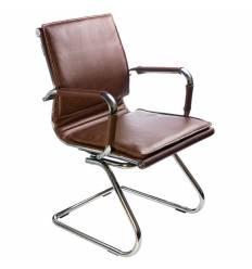 Кресло Бюрократ CH-993-LOW-V/BROWN для посетителя, цвет коричневый