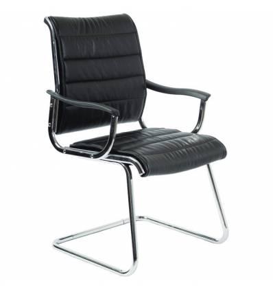 Кресло Бюрократ CH-994AV/BLACK для посетителя, цвет черный