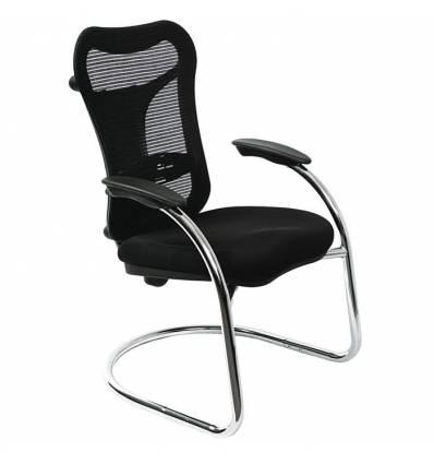 Кресло Бюрократ CH-999AV для посетителя, цвет черный