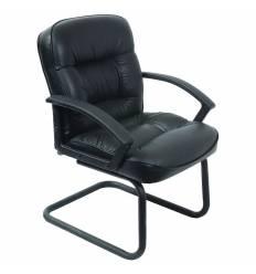 Кресло Бюрократ T-9908AXSN-Low-V для посетителя, цвет черный
