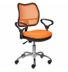 Кресло Бюрократ CH-799SL/OR/TW-96-1 для оператора, цвет оранжевый