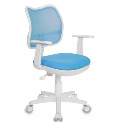 Кресло Бюрократ CH-W797/LB/TW-55 для оператора детское, цвет голубой