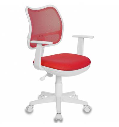 Кресло Бюрократ CH-W797/R/TW-97N для оператора детское, цвет красный