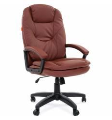 Кресло CHAIRMAN 668 LT/brown для руководителя, экокожа, цвет коричневый