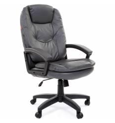 Кресло CHAIRMAN 668 LT/grey для руководителя, экокожа, цвет серый