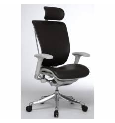 Кресло DUOREST Expert Spring Leather (SPL01-G) для руководителя, эргономичное, кожа черная