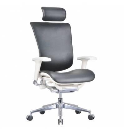 Кресло DUOREST Expert Star Leather (STL01-G) для руководителя, эргономичное, черная кожа