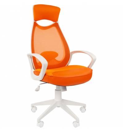Кресло CHAIRMAN 840 White/orange для руководителя