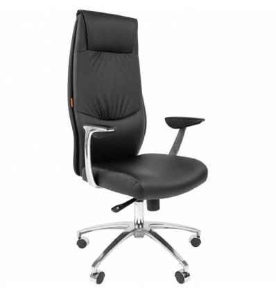 Кресло CHAIRMAN Vista/Black для руководителя, экокожа черная