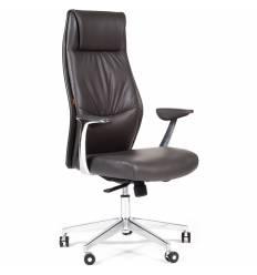 Кресло CHAIRMAN Vista/Grey для руководителя, экокожа темно-серая