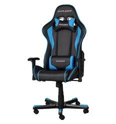 Кресло DXRacer OH/FE08/NB для руководителя, компьютерное, цвет черный/синий