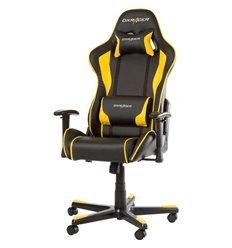 Кресло DXRacer OH/FE08/NY для руководителя, компьютерное, цвет черный/желтый