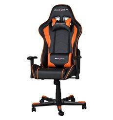 Кресло DXRacer OH/FE08/NO для руководителя, компьютерное, цвет черный/оранжевый