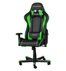 Кресло DXRacer OH/FE08/NE для руководителя, компьютерное, цвет черный/зеленый