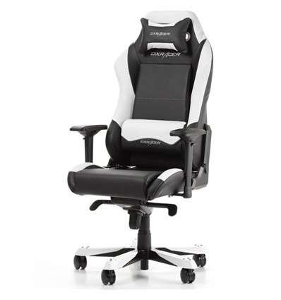 Кресло DXRacer OH/IS11/NW для руководителя, компьютерное, цвет черный/белый (OH/IF11/NW)