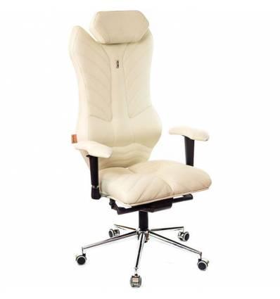Кресло Kulik-System Monarch для руководителя, ортопедическое, цвет бежевый