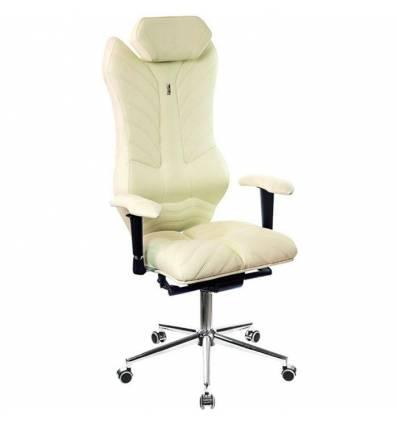 Кресло Kulik-System Monarch для руководителя, ортопедическое, цвет белый