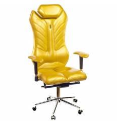 Кресло Kulik-System Monarch для руководителя, ортопедическое, цвет золотой