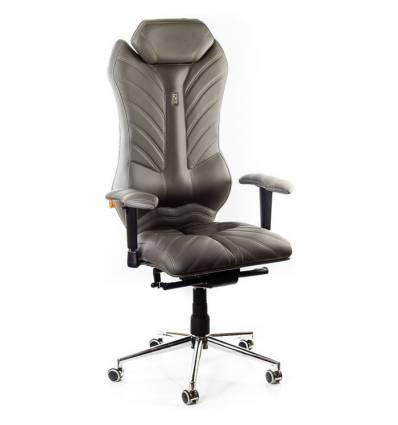 Кресло Kulik-System Monarch для руководителя, ортопедическое, цвет серый