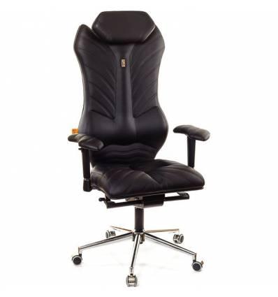 Кресло Kulik-System Monarch для руководителя, ортопедическое, цвет черный