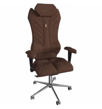 Кресло Kulik System Monarch для руководителя, ортопедическое, цвет шоколад