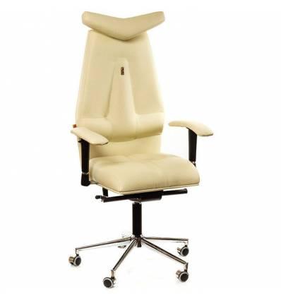 Кресло Kulik-System JET для руководителя, ортопедическое, цвет бежевый