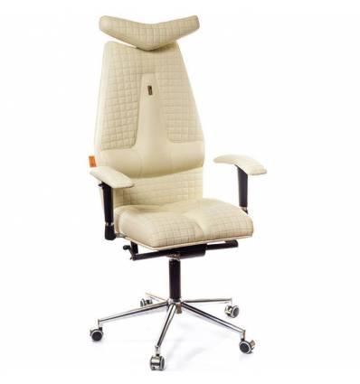 Кресло Kulik-System JET Quatro для руководителя, ортопедическое, цвет бежевый