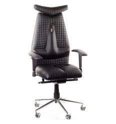 Кресло Kulik-System JET для руководителя, ортопедическое, цвет черный